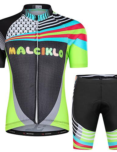 povoljno Biciklizam-Malciklo Dječaci Djevojčice Kratkih rukava Biciklistička majica s kratkim hlačama - Dječji Crn Cvjetni / Botanički Bicikl Sportska odijela UV otporan Prozračnost Ovlaživanje Quick dry Reflektirajuće