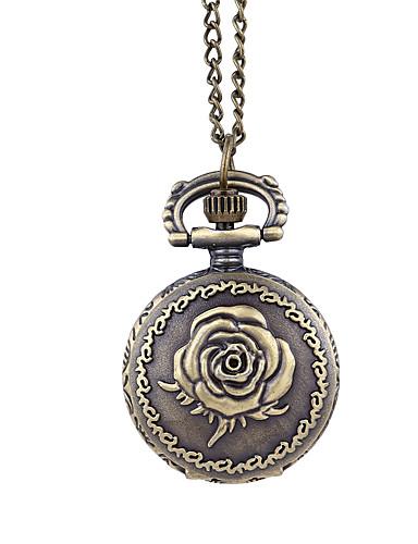สำหรับผู้หญิง นาฬิกาควอตส์ นาฬิกาอิเล็กทรอนิกส์ (Quartz) ทองแดง 30 m Creative ดีไซน์มาใหม่ ปุ่มหมุนขนาดใหญ่ ระบบอนาล็อก ของโบราณ ดอกไม้ - เขียวเข้ม หนึ่งปี อายุการใช้งานแบตเตอรี่