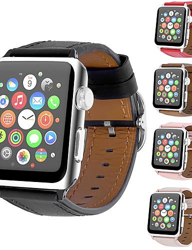 สายนาฬิกา สำหรับ Apple Watch Series 4/3/2/1 Apple หัวกลัดแบบโมเดิล หนังแท้ สายห้อยข้อมือ