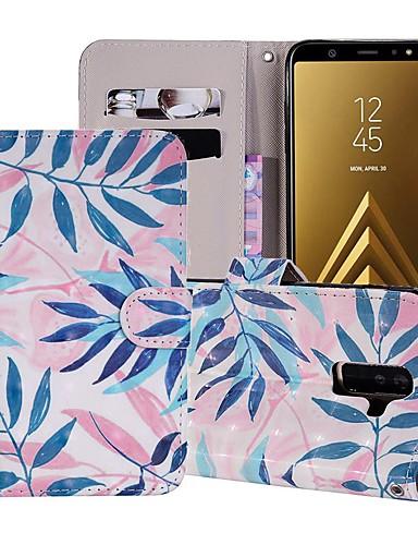 Case สำหรับ Samsung Galaxy A5(2018) / A6 (2018) / A6+ (2018) Wallet / Card Holder / with Stand ตัวกระเป๋าเต็ม ต้นไม้ Hard หนัง PU