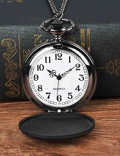 สำหรับผู้ชาย นาฬิกาแบบพกพา นาฬิกาอิเล็กทรอนิกส์ (Quartz) ดำ นาฬิกาใส่ลำลอง ปุ่มหมุนขนาดใหญ่ ระบบอนาล็อก ไม่เป็นทางการ - สีดำ