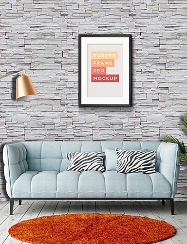 preiswerte Tapete-Tapete Vinylal Wandverkleidung - Selbstklebend Art Deco / Ziegel