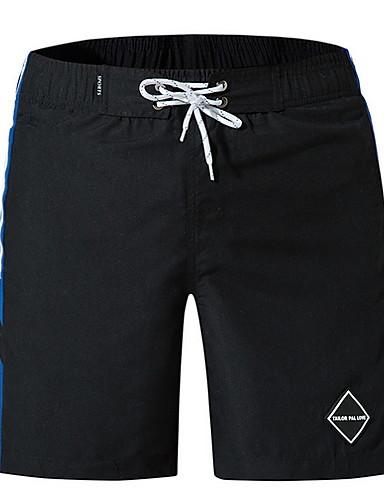 สำหรับผู้ชาย Street Chic กางเกงขาสั้น กางเกง - ลายพิมพ์ สีน้ำเงิน ขาว สีดำ XL XXL XXXL
