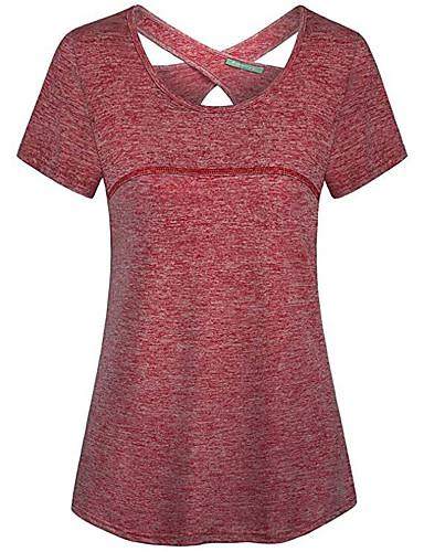 สำหรับผู้หญิง เสื้อเชิร์ต ฝ้าย ลายต่อ เพรียวบาง สีพื้น สีน้ำเงิน XL