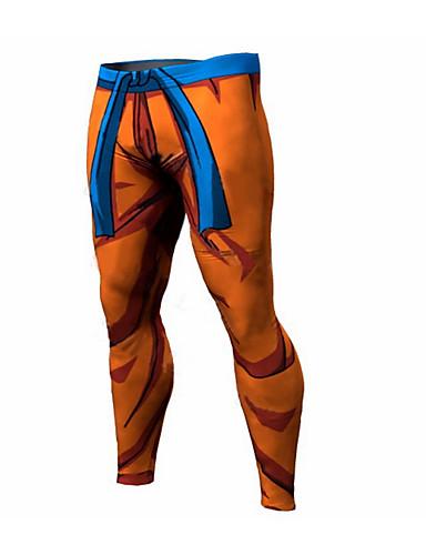 สำหรับผู้ชาย พื้นฐาน กางเกงวอร์ม กางเกง - ลายพิมพ์ ส้ม สีเทา สีม่วง XL XXL XXXL