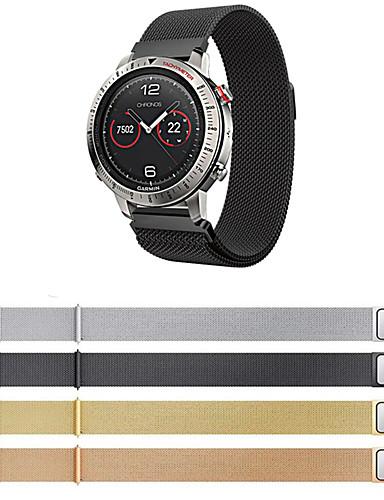 สายนาฬิกา สำหรับ Fenix Chronos Garmin สายยางสำหรับเส้นกีฬา / สายสแตนเลส Milanese สแตนเลส สายห้อยข้อมือ