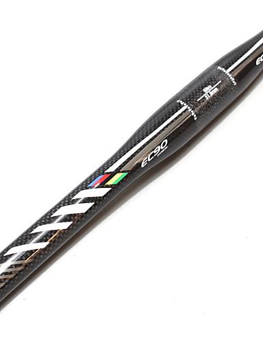 povoljno Ručke i lule volana-Carbon Fiber Ravni rukohvati za bicikle Volan 31.8 mm Mala težina Izdržljivost Jednostavna primjena Cestovni bicikl Mountain Bike Biciklizam Crna / srebrna Sliver / Black Mat