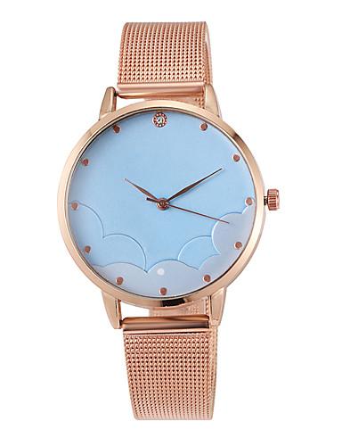 สำหรับผู้หญิง นาฬิกาควอตส์ นาฬิกาอิเล็กทรอนิกส์ (Quartz) สไตล์สมัยใหม่ สไตล์ สแตนเลส Rose Gold 30 m ดีไซน์มาใหม่ น่ารัก ระบบอนาล็อก ไม่เป็นทางการ แฟชั่น - สีแดงชมพู น้ำเงินท้องฟ้า / หนึ่งปี
