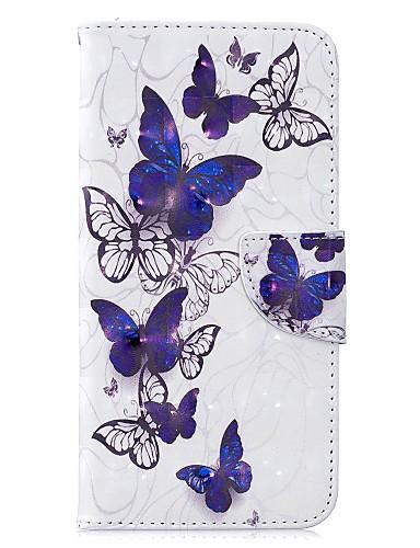 Case สำหรับ Samsung Galaxy J6 (2018) / J6 Plus / J4 (2018) Wallet / Card Holder / Flip ตัวกระเป๋าเต็ม Butterfly Hard หนัง PU