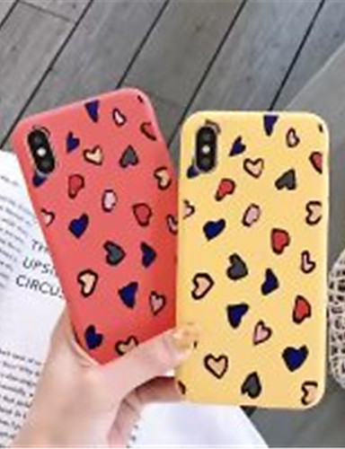 Case สำหรับ Apple iPhone XS / iPhone XR / iPhone XS Max Frosted / Pattern ปกหลัง Heart Soft เจลซิลิก้า
