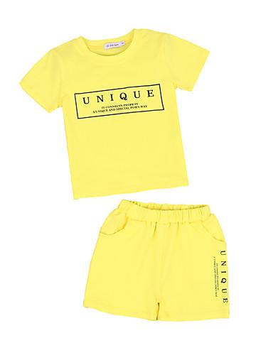 20f5abbdb Kids Toddler Boys' Active Basic Solid Colored Print Print Short Sleeve  Regular Regular Cotton Polyester Clothing Set Yellow 7245758 2019 – $12.96