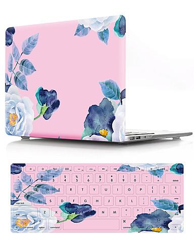 การป้องกันแบบรวม ดอกไม้ พีวีซี สำหรับ MacBook Air 13-inch / New MacBook Pro 13 นิ้ว / New MacBook Air 13
