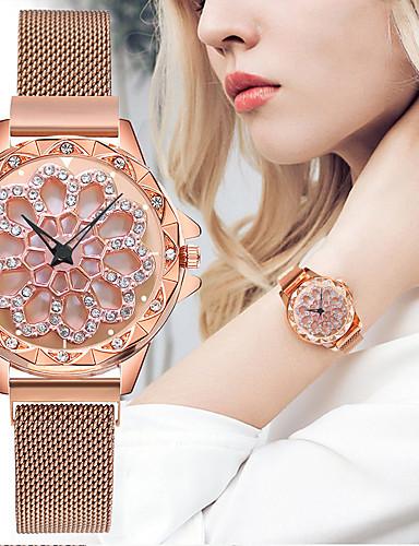 สำหรับผู้หญิง นาฬิกาควอตส์ นาฬิกาอิเล็กทรอนิกส์ (Quartz) สไตล์ ดำ / ฟ้า / เงิน ดีไซน์มาใหม่ นาฬิกาใส่ลำลอง ระบบอนาล็อก ไม่เป็นทางการ แฟชั่น - ทับทิม สีม่วง ทองกุหลาบ หนึ่งปี อายุการใช้งานแบตเตอรี่