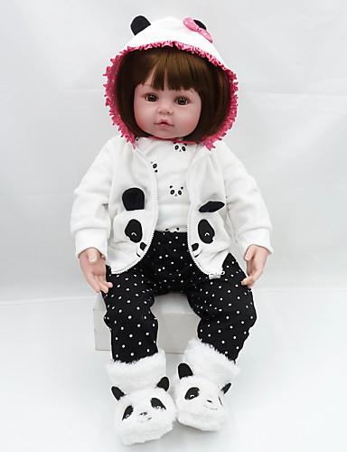 preiswerte Spielzeug & Hobby Artikel-NPKCOLLECTION Lebensechte Puppe Baby Mädchen 20 Zoll Geschenk Niedlich Künstliche Implantation Braune Augen Kinder Mädchen Spielzeuge Geschenk