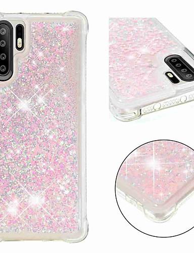 Case สำหรับ Huawei Huawei P20 / Huawei P20 Pro / Huawei P20 lite Shockproof / Flowing Liquid / Transparent ปกหลัง Glitter Shine Soft TPU
