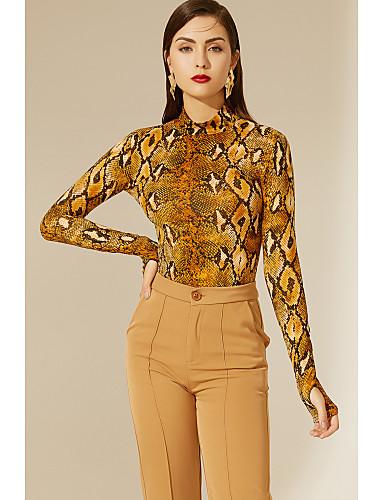 billige Dametopper-TS@ kvinners eu / us størrelse slank bodysuit - dyr rund hals