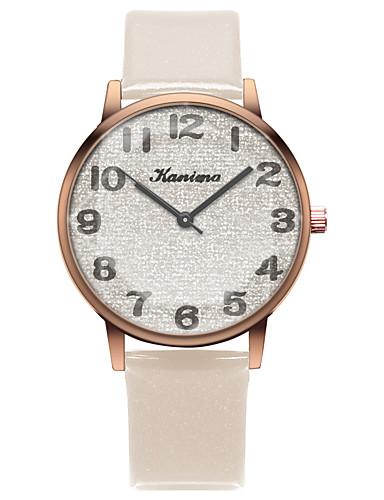 สำหรับผู้หญิง นาฬิกาควอตส์ นาฬิกาอิเล็กทรอนิกส์ (Quartz) สไตล์สมัยใหม่ สไตล์ PU Leather ดำ / ฟ้า / เขียว 30 m นาฬิกาใส่ลำลอง น่ารัก ระบบอนาล็อก ไม่เป็นทางการ แฟชั่น - สีเขียวอ่อน กุหลาบแดง ไวน์