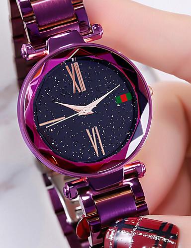 HANNAH MARTIN สำหรับผู้หญิง นาฬิกาควอตส์ ญี่ปุ่น นาฬิกาควอตซ์ญี่ปุ่น สไตล์สมัยใหม่ สไตล์ ม่วง / Rose Gold 30 m กันน้ำ ดีไซน์มาใหม่ นาฬิกาใส่ลำลอง ระบบอนาล็อก แฟชั่น สง่างาม - สีม่วง ทองกุหลาบ