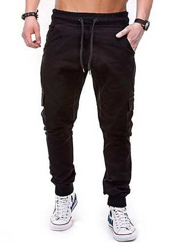 สำหรับผู้ชาย Street Chic กางเกง Chinos กางเกง - สีพื้น สีเทา อาร์มี่ กรีน สีกากี XL XXL XXXL