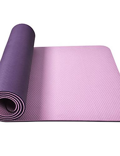 povoljno Vježbanje, fitness i joga-Yoga Mat Nježno Elastičan Ljepljiv TPE Za Zemlje žuta Ametist Ljubičasta