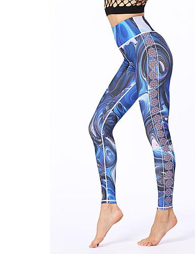 povoljno Vježbanje, fitness i joga-Žene Hlače za jogu 3D ispis Fitness Trening u teretani Biciklizam Hulahopke Odjeća za rekreaciju Prozračnost Ovlaživanje Quick dry Izzadás-elvezető Rastezljivo Slim