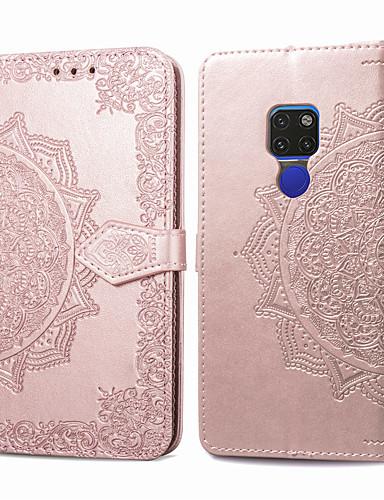 Case สำหรับ Huawei Huawei Mate 20 Card Holder / Flip ตัวกระเป๋าเต็ม สีพื้น Hard หนัง PU