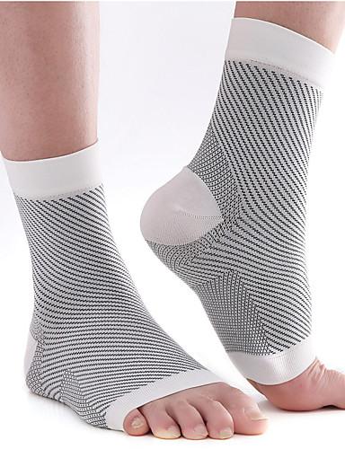 cheap Cycling-Men's Women's Running Socks Athletic Sports Socks Cycling Socks Compression Socks Toeless Breathable Comfortable Black Grey Black / White Elastane Winter Road Bike Mountain Bike MTB Running Stretchy