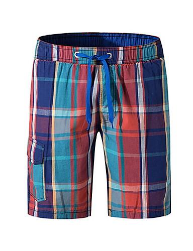 สำหรับผู้ชาย สายรุ้ง Swim Trunk กางเกงว่ายน้ำ ชุดว่ายน้ำ - รูปเรขาคณิต XXXL XXXXL XXXXXL สายรุ้ง