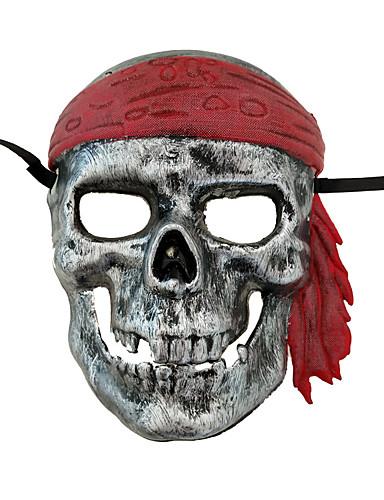 povoljno Maske i kostimi-Cosplay Nošnje Mask Maska za Noć vještica Inspirirana Pirates of the Caribbean Zlatan Srebro Cosplay Halloween Halloween Karneval Maškare Odrasli Muškarci Žene