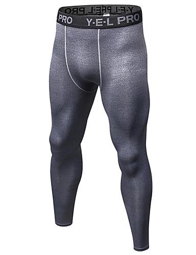 povoljno ljetni popust-Muškarci Trčanje kompresijske hlače Atletski Temeljni sloj Kompresivna odjeća Biciklizam Hulahopke Spandex Fitness Trening u teretani vježba Quick dry Anatomski dizajn Puha Veći konfekcijski brojevi
