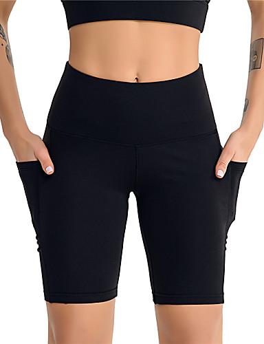 povoljno Odjeća za fitness, trčanje i jogu-Žene Hlače za jogu Jedna barva Fitness Trening u teretani Kratke hlače Odjeća za rekreaciju Ugrijati Quick dry Rastezljivo Slim