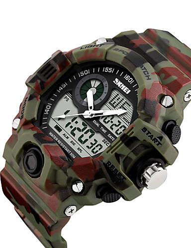 SKMEI สำหรับผู้ชาย นาฬิกาดิจิตอล ดิจิตอล ดำ / ฟ้า / แดง 50 m กันน้ำ ปฏิทิน แสดงสองเวลา ดิจิตอล ไม่เป็นทางการ ภายนอก - สีเขียว ฟ้า สีเขียวอ่อน