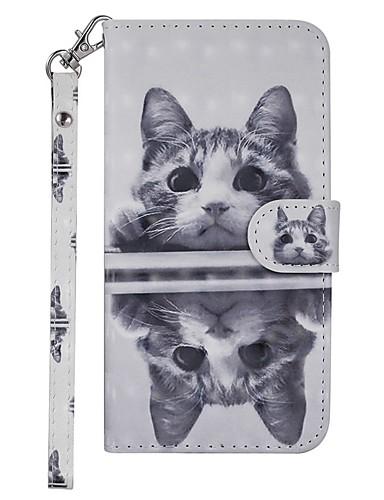 Case สำหรับ Samsung Galaxy Galaxy S10 Plus Wallet / Card Holder / with Stand ตัวกระเป๋าเต็ม Cat Hard หนัง PU