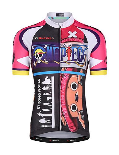 cheap Cycling-Malciklo Boys' Girls' Short Sleeve Cycling Jersey - Kid's Summer Black / Red Cartoon Bike Top Mountain Bike MTB Road Bike Cycling UV Resistant Quick Dry Moisture Wicking Sports Clothing Apparel