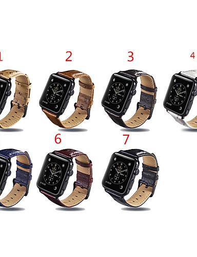 สายนาฬิกา สำหรับ Apple Watch Series 5/4/3/2/1 Apple หัวกลัดแบบโมเดิล หนังแท้ สายห้อยข้อมือ