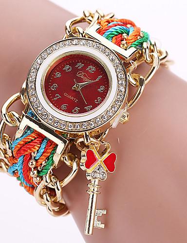 สำหรับผู้หญิง นาฬิกาสร้อยข้อมือ นาฬิกาอิเล็กทรอนิกส์ (Quartz) สไตล์วินเทจ สไตล์ ดำ / สีขาว / ฟ้า ดีไซน์มาใหม่ นาฬิกาใส่ลำลอง ระบบอนาล็อก ของโบราณ โบฮีเมียน - สีดำ ทับทิม สีน้ำเงินเข้ม / หนึ่งปี