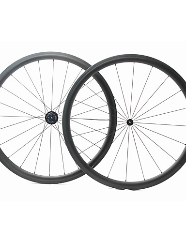 preiswerte Fahrrad-Räder-FARSPORTS 700CC Radsätzen Radsport 25 mm Rennrad Kohlefaser Röhrenförmig 20/24 Speichen 38 mm