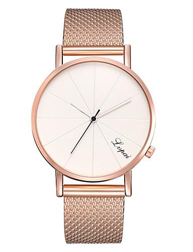 สำหรับผู้หญิง นาฬิกาควอตส์ นาฬิกาอิเล็กทรอนิกส์ (Quartz) รูปแบบชุดเป็นทางการ สไตล์สมัยใหม่ ดำ / เงิน / Rose Gold น่ารัก นาฬิกาใส่ลำลอง เท่ห์ ระบบอนาล็อก ไม่เป็นทางการ แฟชั่น -