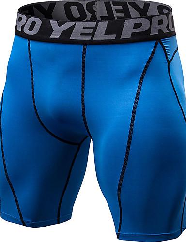 povoljno Odjeća za fitness, trčanje i jogu-YUERLIAN Muškarci Hlače za jogu Color block Trčanje Fitness Trening u teretani Kratke hlače Odjeća za rekreaciju Mala težina Prozračnost Quick dry Izzadás-elvezető Visoka elastičnost Slim
