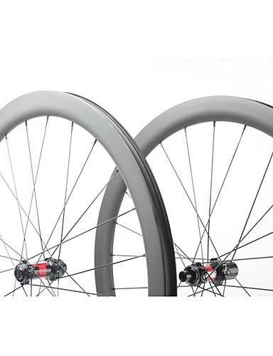 preiswerte Fahrrad-Räder-FARSPORTS 700CC Radsätzen Radsport 26 mm Rennrad Kohlefaser Trumpf / Schlauchlos Kompatibel 24/24 Speichen 45 mm