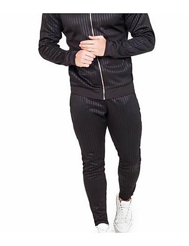 สำหรับผู้ชาย พื้นฐาน กางเกงวอร์ม กางเกง - สีพื้น สีน้ำเงิน สีดำ L XL XXL