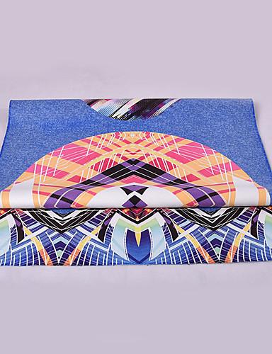 povoljno Vježbanje, fitness i joga-Yoga Mat Nježno Elastičan Ljepljiv Izzadás-elvezető najfiniji vlakana Za Svjetlo žuta Plava i bijela Plava