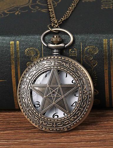 สำหรับผู้ชาย นาฬิกาแบบพกพา นาฬิกาอิเล็กทรอนิกส์ (Quartz) ทองแดง นาฬิกาใส่ลำลอง ปุ่มหมุนขนาดใหญ่ ระบบอนาล็อก แฟชั่น Skeleton Aristo - บรอนซ์