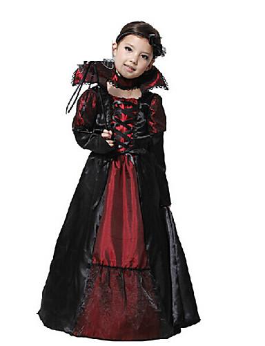 povoljno Maske i kostimi-Cosplay Nošnje Mask Maska za Noć vještica Inspirirana Vampiri Red+Black Cosplay Halloween Halloween Karneval Maškare Dječji Djevojčice / Haljina / Haljina