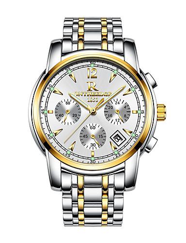 สำหรับผู้ชาย นาฬิกาตกแต่งข้อมือ ญี่ปุ่น นาฬิกาอิเล็กทรอนิกส์ (Quartz) สแตนเลส ดำ / เงิน / ทอง 30 m ปฏิทิน โครโนกราฟ Creative ระบบอนาล็อก ความหรูหรา แฟชั่น - สีเงิน ฟ้า ทอง / เงิน / สีขาว / สองปี