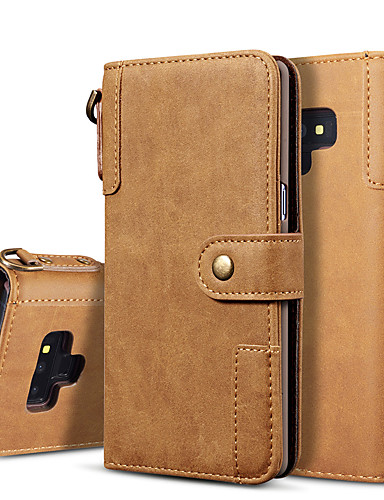 Case สำหรับ Samsung Galaxy Note 9 / Note 8 Wallet / Flip / Magnetic ตัวกระเป๋าเต็ม สีพื้น Hard หนัง PU
