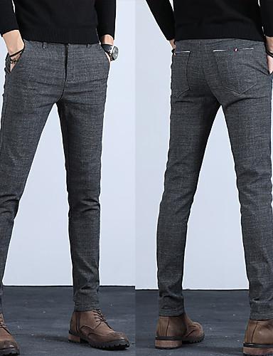 preiswerte Herren-Hosen und Shorts-Herrn Grundlegend Chinos Hose - Solide Klassisch Blau Schwarz Grau 34 36 38