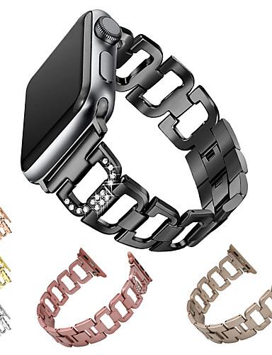 สายนาฬิกา สำหรับ Apple Watch Series 4/3/2/1 Apple หัวกลัดแบบโมเดิล โลหะ / สแตนเลส สายห้อยข้อมือ