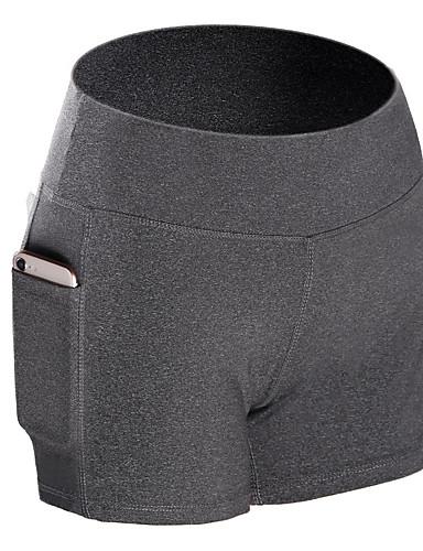 levne Shall We®-Sportovní oděvy Spodní část oděvu / Jóga Dámské Trénink / Výkon elastan / Polyster Kapsa na zadní straně Přírodní Kraťasy