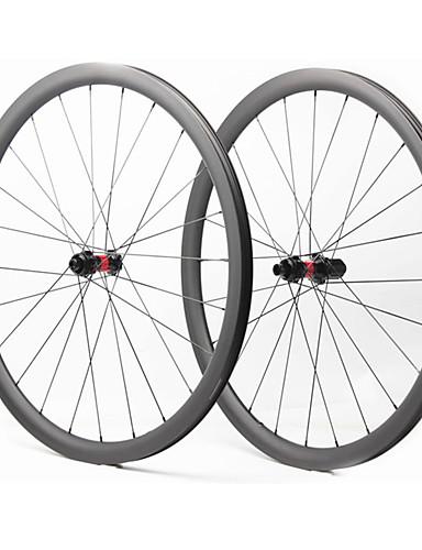 preiswerte Fahrrad-Räder-FARSPORTS 700CC Radsätzen Radsport 28 mm Rennrad Kohlefaser Trumpf / Schlauchlos Kompatibel 28/28 Speichen 35 mm
